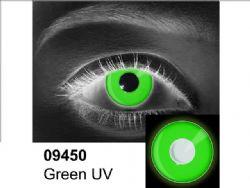 LENTILLES CORNEENNES THEATRALES -  VERT UV - VERT (90 JOURS) 09.450
