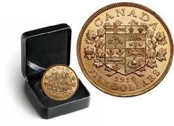 LES PREMIERES PIECES D'OR CANADIENNES -  PIÈCE DE 5 DOLLARS EN OR 1914 SÉLECTIONNÉE INDIVIDUELLEMENT -  PIÈCES DU CANADA 1914