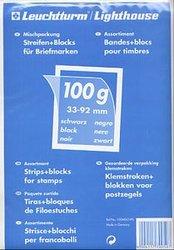 LIGHTHOUSE -  ASSORTIMENT (100G) DE POCHETTES À FOND NOIR POUR TIMBRES