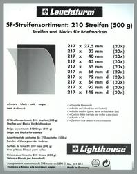 LIGHTHOUSE -  ASSORTIMENT (500G) DE POCHETTES À FOND NOIR POUR TIMBRES