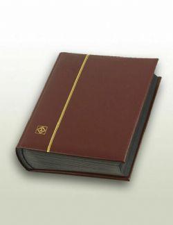 LIGHTHOUSE -  CLASSEUR EN CUIR BOURGOGNE 32 FEUILLES (64 PAGES NOIRES)