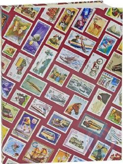 LIGHTHOUSE -  CLASSEUR FOND ROUGE 8 FEUILLES (16 PAGES BLANCHES)