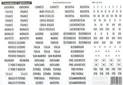 LIGHTHOUSE -  ETIQUETTES AUTOCOLLANTES POUR ALBUMS DE TIMBRES