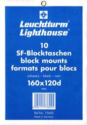 LIGHTHOUSE -  POCHETTES À FOND NOIR POUR BLOCS 160X120D (PAQUET DE 10)