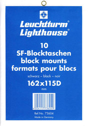 LIGHTHOUSE -  POCHETTES À FOND NOIR POUR BLOCS 162X115D (PAQUET DE 10)