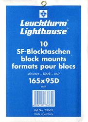 LIGHTHOUSE -  POCHETTES À FOND NOIR POUR BLOCS 165X95D (PAQUET DE 10)