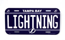 LIGHTNING DE TAMPA BAY -  PLAQUE D'IMMATRICULATION