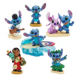 LILO ET STITCH -  ENSEMBLE DE 6 FIGURINES EN PLASTIQUE DE LUXE