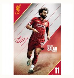 LIVERPOOL FC POSTER - 2020 -  MOHAMED SALAH #10 (61  X 91.5 CM)
