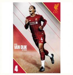 LIVERPOOL FC POSTER - 2020 -  VIGIRL VAN DIJK #4 (61  X 91.5 CM)