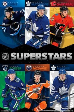 LNH -  AFFICHE DE NORTHERN SUPERSTARS 2018 (56 CM X 86.5 CM)