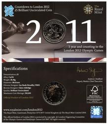 LONDRES 2012 -  DECOMPTE POUR LES JEUX OLYMPIQUES DE LONDRES 2012 -  PIÈCES DE L'ANGLETERRE 2011