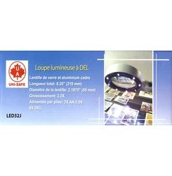 LOUPES AVEC MANCHE -  GRANDE LOUPE LUMINEUSE À LED (3.2X)
