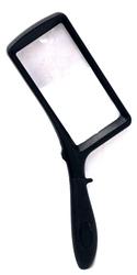 LOUPES AVEC MANCHE -  LOUPE RECTANGULAIRE AVEC LUMIÈRE LED (2X-6X)