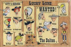LUCKY LUKE -  ENSEMBLE DE 16 EPINGLETTES (USAGÉ)