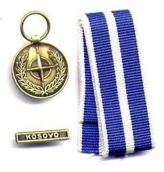 MÉDAILLE DE L'OTAN - KOSOVO BARRE