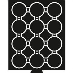 MÉDAILLERS -  TIROIR POUR 12 PIÈCES DE 44MM-45MM EN CAPSULES (PLATEAU NOIR)
