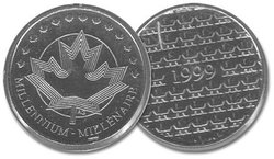 MÉDAILLES -  MÉDAILLE DU MILLÉNAIRE -  PIÈCES DU CANADA 1999