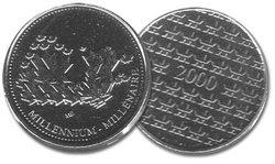 MÉDAILLES -  MÉDAILLE DU MILLÉNAIRE -  PIÈCES DU CANADA 2000