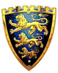 MÉDIÉVALE -  BOUCLIER DU ROI TRIPLE LION (43 CM) (ENFANT) -  CHEVALIERS 29101