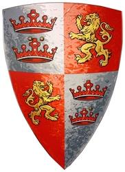 MÉDIÉVALE -  BOUCLIER - PRINCE COEUR DE LION (43 CM) (ENFANT) -  CHEVALIERS