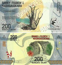 MADAGASCAR -  200 ARIARY 2017 (UNC)