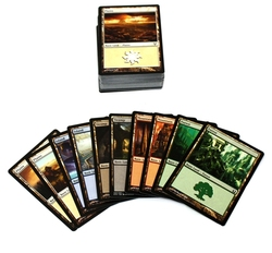 MAGIC THE GATHERING -  100 TERRAINS DE BASE (20 DE CHAQUE)