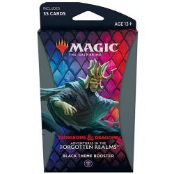 MAGIC THE GATHERING -  BLACK THEME BOOSTER (ANGLAIS) (35) -  ADVENTURES IN THE FORGOTTEN REALMS