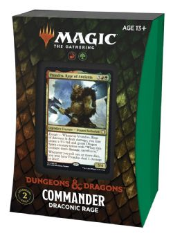 MAGIC THE GATHERING -  DRACONIC RAGE - COMMANDER DECK (ANGLAIS) -  ADVENTURES IN THE FORGOTTEN REALMS