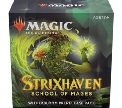 MAGIC THE GATHERING -  PACK DE PRERELEASE - WITHERBLOOM -  STRIXHAVEN SCHOOL OF MAGES