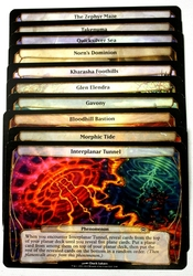 MAGIC THE GATHERING - PLANECHASE -  ENSEMBLE COMPLET DES PLANS -NIGHT OF THE NINJA-