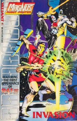 MAGNUS -  LIVRE USAGÉ -INVASION TP (ANGLAIS) -  ROBOT FIGHTER
