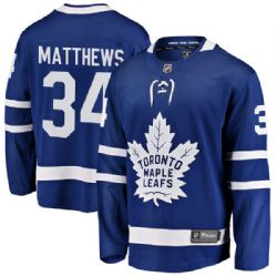 MAPLE LEAFS DE TORONTO -  AUSTON MATTHEWS #34 - CHANDAIL RÉPLIQUE BLEU (TRÈS GRAND)