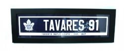 MAPLE LEAFS DE TORONTO -  CADRE JOHN TAVARES #91 (14.5 CM X 56 CM)