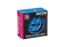 MAQUILLE NEON UV POUR CHEVEUX -  BLEU INTENSE -  MOON GLOW