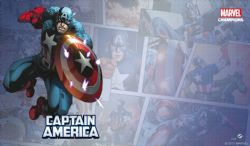 MARVEL CHAMPIONS: THE CARD GAME -  GAME MAT CAPTAIN AMERICA (61CM X 30CM)