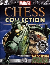 MARVEL CHESS COLLECTION -  LIVING BRAIN (MAGAZINE ET FIGURINE) 96