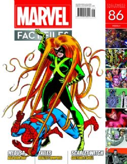 MARVEL FACT FILES COLLECTION -  MEDUSA COVER 086