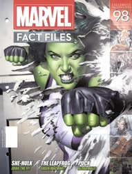 MARVEL FACT FILES COLLECTION -  SHE-HULK COVER MAGAZINE 98