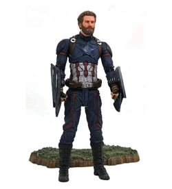 MARVEL SELECT -  FIGURINE DE CAPTAIN AMERICA (17 CM) -  AVENGERS INFINITY WAR