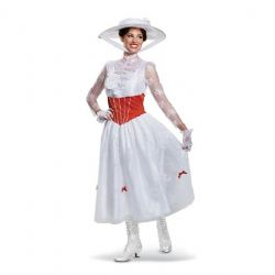MARY POPPINS -  COSTUME DELUXE DE MARY POPPINS (ADULTE)