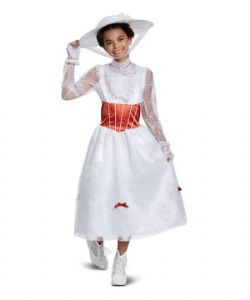 MARY POPPINS -  COSTUME DELUXE DE MARY POPPINS (ENFANT - GRAND 10-12)