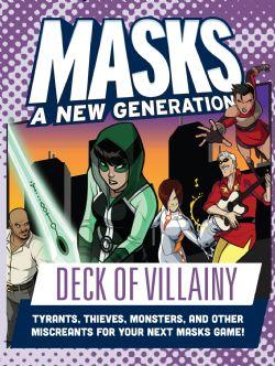 MASKS: A NEW GENERATION -  DECK OF VILLAINY (ANGLAIS)