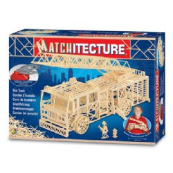 MATCHITECTURE -  CAMION D'INCENDIE (1500 MICROMADRIERS)