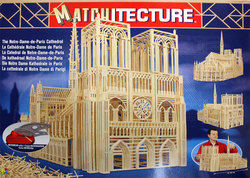 MATCHITECTURE -  CATHÉDRALE NOTRE-DAME-DE-PARIS (7500 MICROMADRIERS)