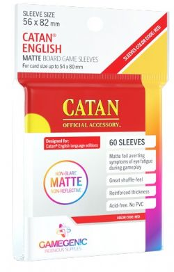 MATTE BOARD GAMES SLEEVES -  CATAN ENGLISH (56MM X 82MM) (60) -  GAMEGENIC