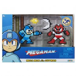 MEGAMAN -  FIGURINE 8-BIT DE MEGA MAN CONTRE CUT MAN (6CM)
