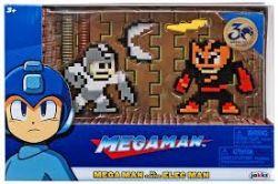 MEGAMAN -  FIGURINE 8-BIT DE MEGA MAN CONTRE ELEC MAN (6CM)