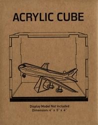 METAL EARTH -  CUBE EN ACRYLIQUE (4X5X4)