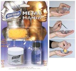 METAL MANIA -  ARGENT - MAQUILLAGE PEAU ET CHEVEUX - 1/2 OZ./14 GM